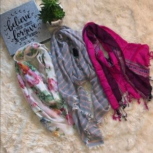 Pretty Scarves 🧣Set of 3!